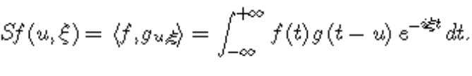Outline The windowed Fourier transform is defined by It uses an atom which is the product