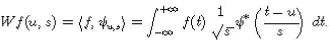 time and scale. Outline The wavelet transform is defined by where the base atom is a
