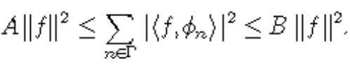 f in H, of vectors in a Hilbert space H is a frame of H if