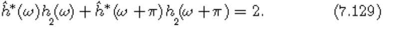 previous equations, which leads to the necessary condition: For filite impulse response filters, the Fourier transforms