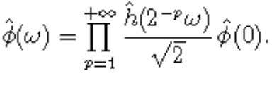 Approximations In the Fourier domain, this becomes The coefficients h[n] in the scaling equation entirely