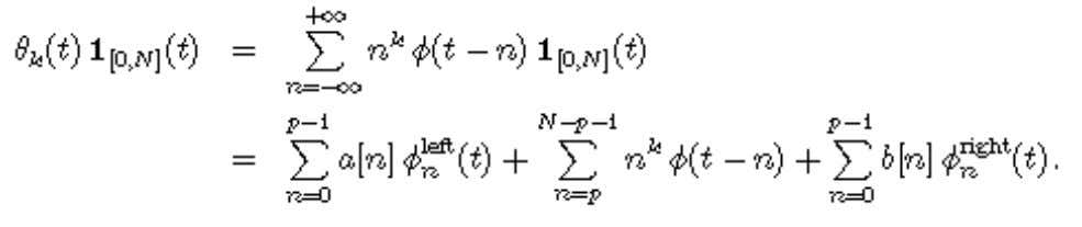 Wavelets Over an Interval that If this equation is satisfied, it reamains valid after rescaling since