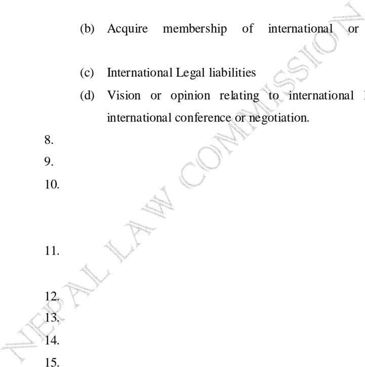 (b) (c) (d) international conference or negotiation. 8. 9. 10. 11. 12. 13. 14. 15.