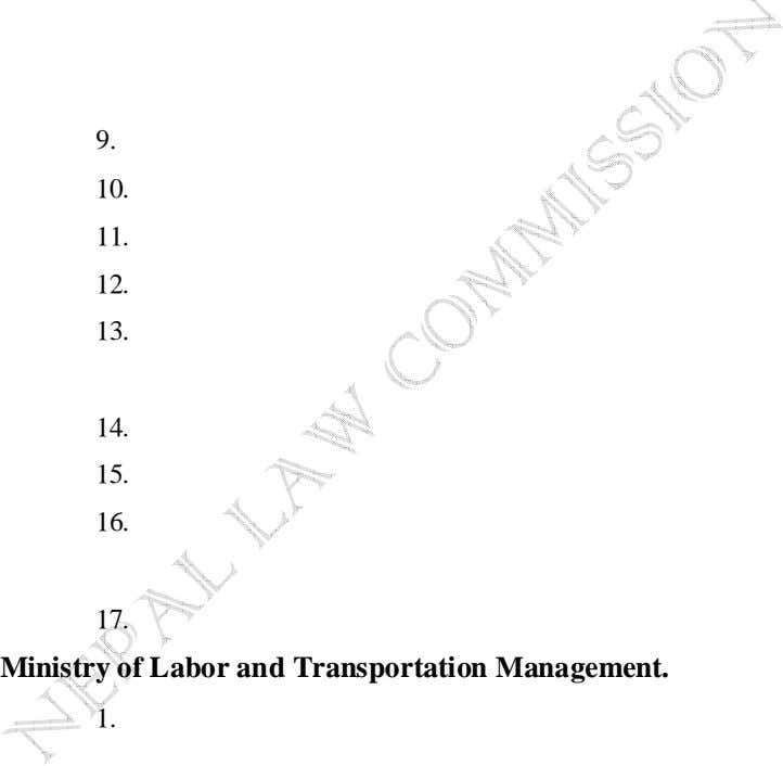 9. 10. 11. 12. 13. 14. 15. 16. 17. Ministry of Labor and Transportation Management.
