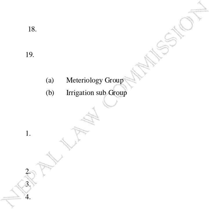 18. 19. (a) Meteriology Group (b) Irrigation sub Group 1. 2. 3. 4.