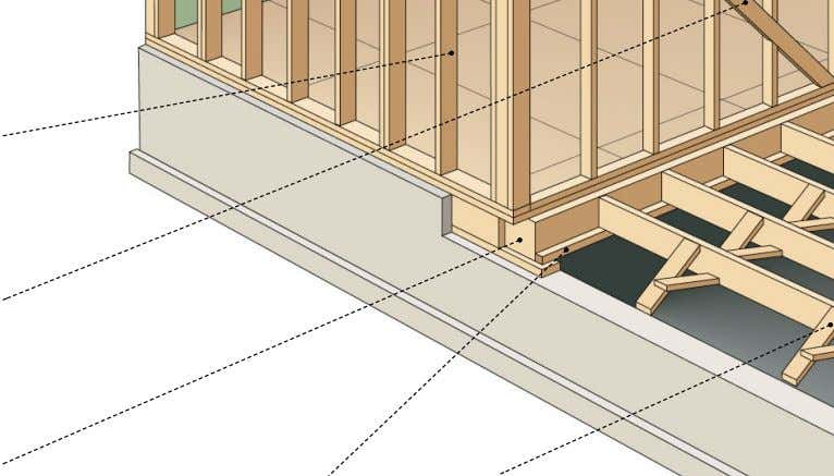 the hip of a sloped roof and against which the rafters rest. ledger Level member located