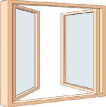 that open in, pivoting vertically along a hanging stile. casement window Window with one or two