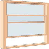 one or more sashes that move horizontally along a groove. sash window Window with one or