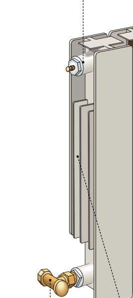 column Vertical tube through which the water flows. hot-water outlet Valve for draining the water