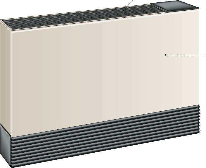 grille Grille through which the heated air is diffused in the room. casing Rigid metal box
