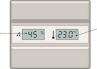 measuring the amount of humidity in a room's air. humidity temperature room thermostat Mechanism that, by