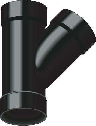 a quantity of water to prevent sewage gases from escaping. offset Fitting joining two pipes so