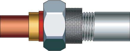 fittings allow tubes of different materials to be joined. copper to steel The tubes are joined