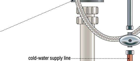 cold-water supply line
