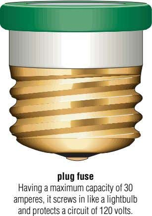 plug fuse Having a maximum capacity of 30 amperes, it screws in like a lightbulb