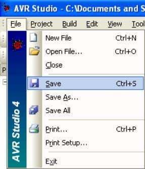 pressing Ctrl + S or choosing Save from the File menu Figure 9: The File menu