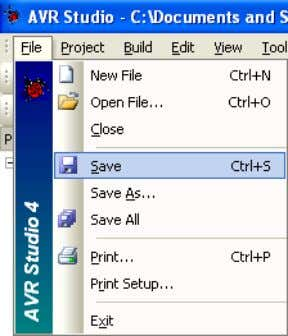 pressing Ctrl + S or choosing Save from the File menu Figure 7: The File menu
