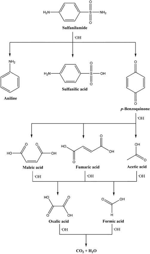 is schematically presented in case of sulfanilamide. Figure 7. Schematic representation of sulfanilamide free
