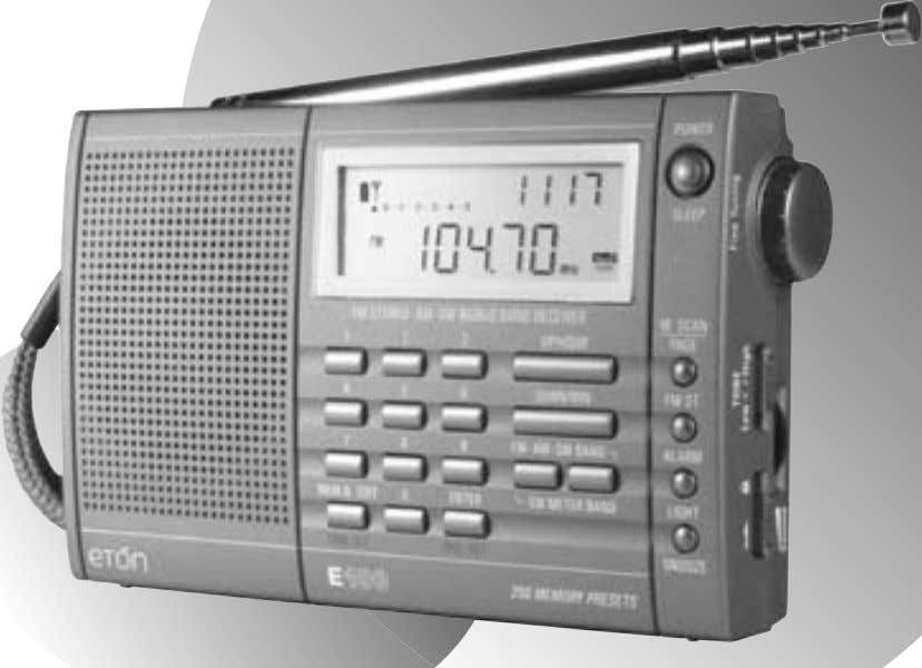 E100 AM/FM/Shortwave Radio OWNER'S MANUAL