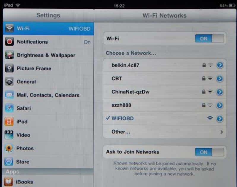 Scan for the Wifi327 device, and join the network.