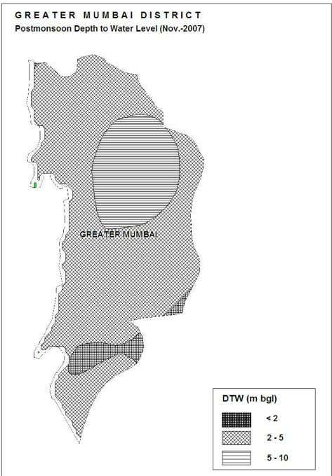 10 m bgl are observed in north central part of the district. Figure-4: Depth to Water