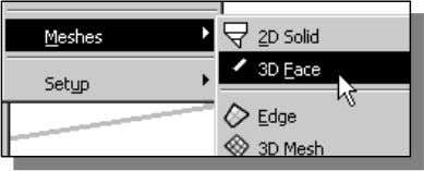 primary construction tool for surface modeling in AutoCAD. 2. 1. In the pull-down menus, select: [Draw]