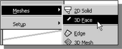 display mode Copyrighted 2. In the pull-down menus, select: [Draw] [Modeling] [Meshes] Material [3D Face] 3.