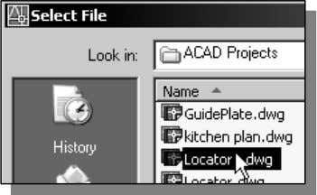 Click on the Open icon in the Standard toolbar. Material 2. In the Select File window,