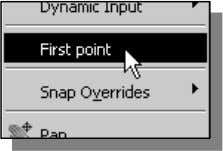 by choosing First point in the option menu. Copyrighted 4. In the command prompt area, the