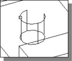 in the Modify toolbar. 8. Select the top arc as shown. Material By default, AutoCAD treats