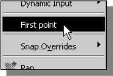 first point by choosing First point in the option menu. 9. In the command prompt area,