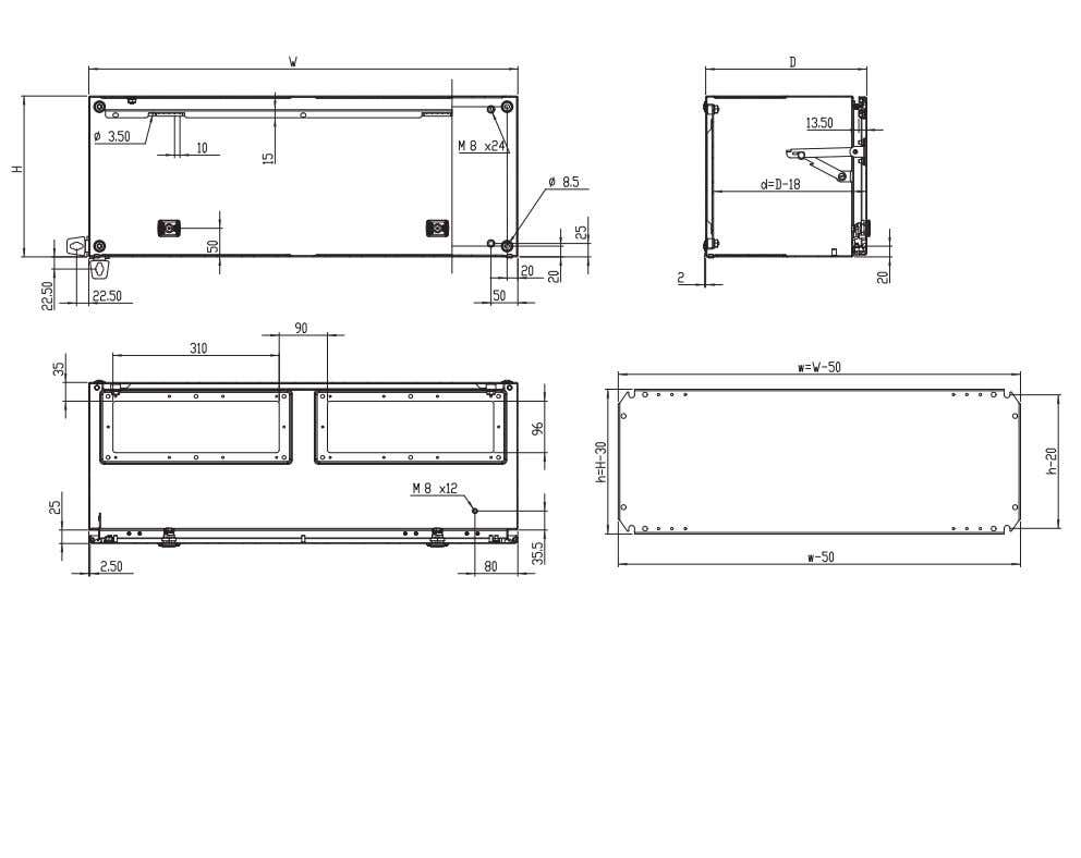 510x96 4 2 + 2 2 MAP0312030PER5 Dimensions Product specifications, CAD drawings and info rmation