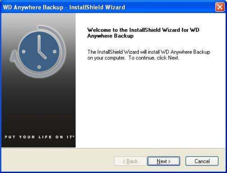 then start the InstallShield Wizard. Left-click on Next . 5. This is the End User License