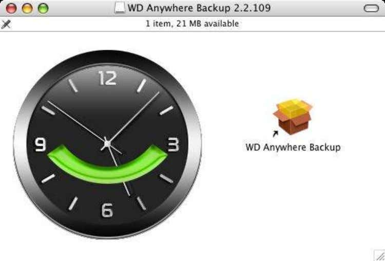 the install package. Double-click on WD AnyWhere Backup to start the installer. WD Anywhere Backup™ Release