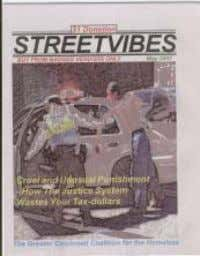 often invisibile stories of homelessness here in Cincinnati. Buy from a Vendor at many locations in