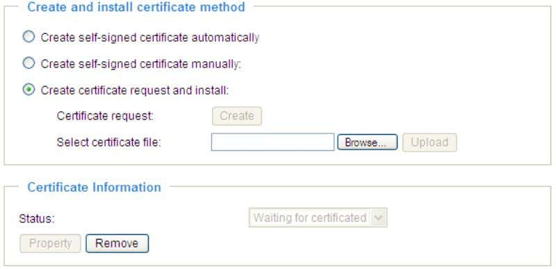 Browse certificate, then click Upload in the second column. NOTE ► How do I cancel the