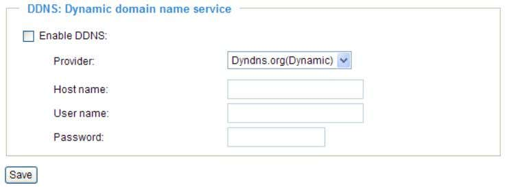 host and domain name. DDNS: Dynamic domain name service Enable DDNS : Select this option to