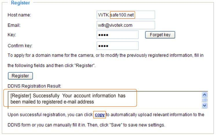 [Register] Successfully Your account information has been mailed to registered e-mail address