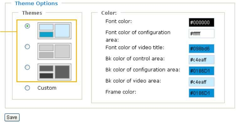 filed. Click Save to enable the settings. Preset Patterns Font Color of the Video Title Background