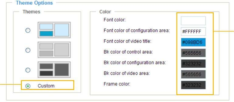 want to change the color on the right column. Custom Pattern Color Selector 3. The palette
