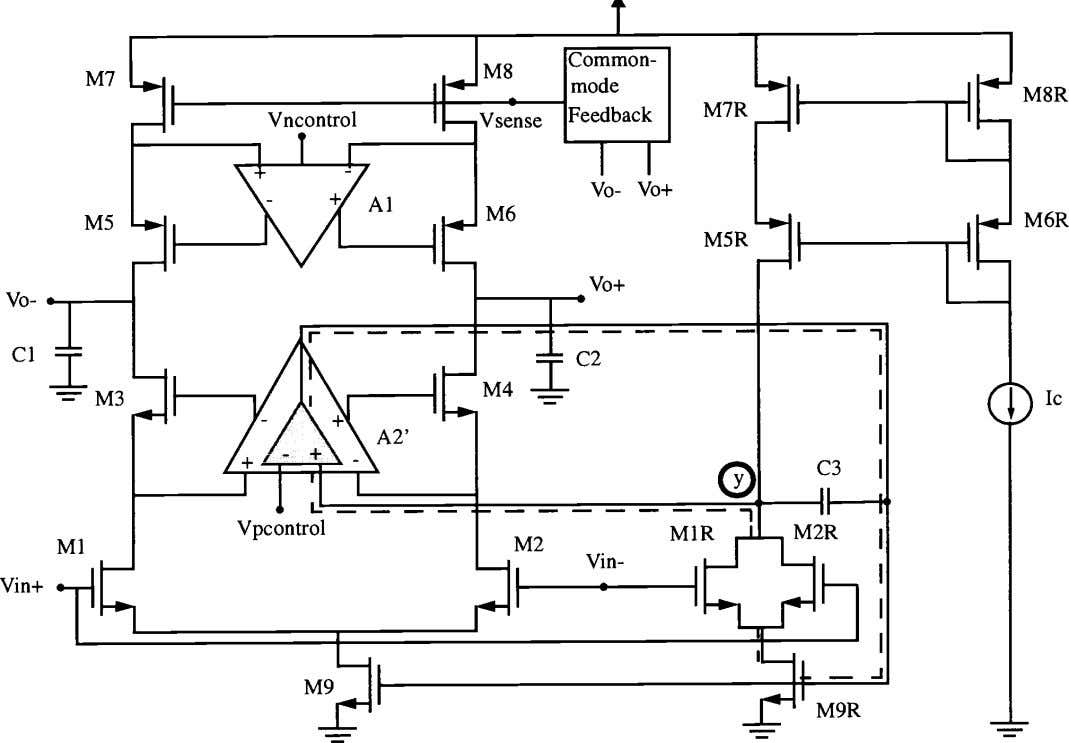 Figure 2: © IEEE 1998 Implementation of operational amplifier. 20.4-5