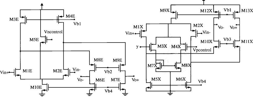 Figure 4: © IEEE 1998 Gain enhancement amplifiers, a: left, b: right. 20.4-7