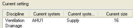 "and Supply (green) according to the current Project Settings Domain ""Current settings"" in the ""Lindab System"