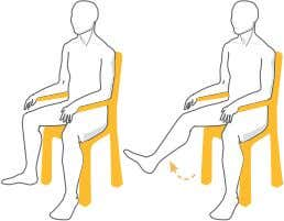 your feet on the floor, hold for three seconds and repeat. Knee Lifts Keeping your leg