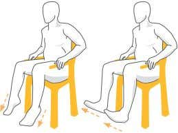 then slowly bring it back down. Repeat with your right leg. Chair Leg Raise Keeping your