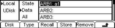 Stored, and enter the following interface. Select the Recall Figure 2-29 Operation Menu Table 2-9 The