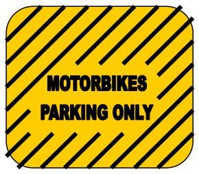 the entrance carpark will provide motorbike parking information such as time restrictions and applicable fees. Page