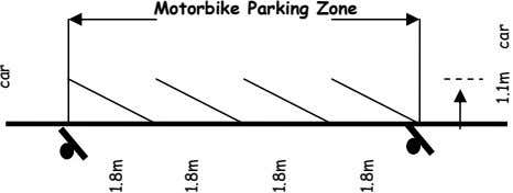 Motorbike Parking Zone car 1.8m 1.8m 1.8m 1.8m 1.1m car