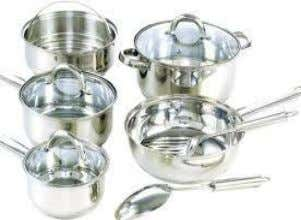 keep the pot from getting heat dark spots. Stainless steel utensils maybe bought in many gauges,