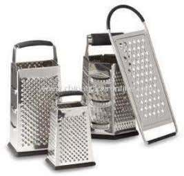 is specifically designed for the purpose of pulping garlic. Graters are used to grate, shred, slice